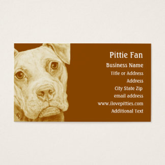 Pit Bull Terrier (Brown) -  Business Card