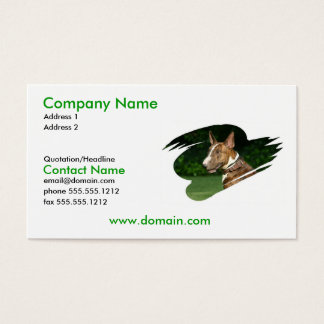 Pit Bull Terrier Business Card