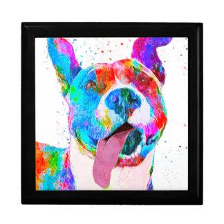 Pit Bull Terrier Colorful Pop Art Keepsake Box