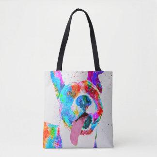 Pit Bull Terrier Colorful Pop Art Tote Bag