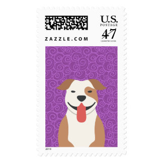 Pit Bull Terrier Custom Postage Stamps