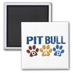 PIT BULL TERRIER Dad Paw Print 1 Refrigerator Magnets