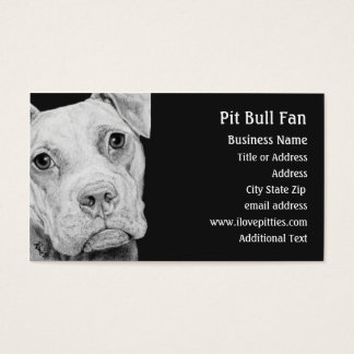 Pit Bull Terrier (Grey) -  Business Card