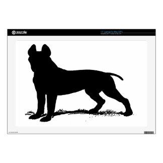 pit bull terrier laptop skins
