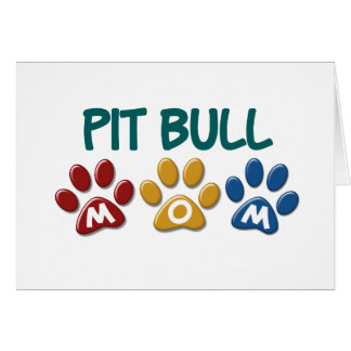 PIT BULL TERRIER Mom Paw Print 1 Greeting Card