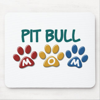 PIT BULL TERRIER Mom Paw Print 1 Mouse Pad
