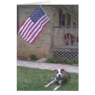 Pit Bull Terrier Notecard Card