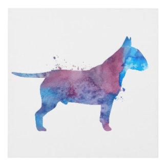 Pit bull terrier panel wall art