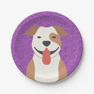 Pit Bull Terrier Paper Plates