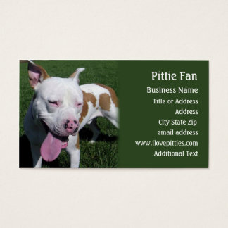 Pit Bull Terrier -  Photo Business Card