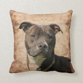 Pit Bull Terrier Throw Pillows