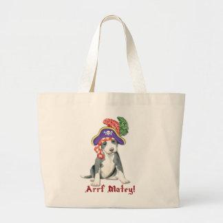 Pit Bull Terrier Pirate Large Tote Bag