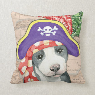 Pit Bull Terrier Pirate Pillow