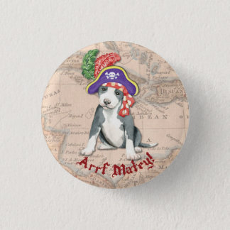Pit Bull Terrier Pirate Pinback Button