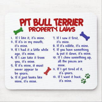 PIT BULL TERRIER Property Laws 2 Mouse Mats