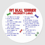 PIT BULL TERRIER Property Laws 2 Sticker