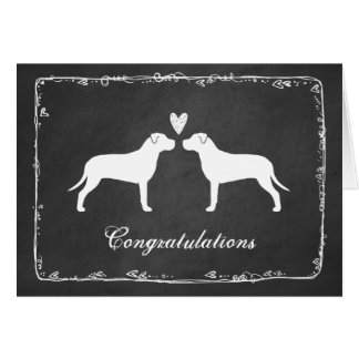 Pit Bull Terriers Wedding Congratulations Greeting Card