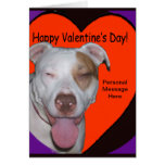 Pit Bull Valentine Add your Personal Message Greeting Card
