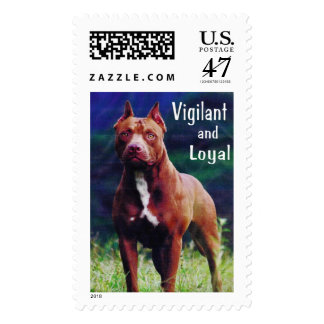 Pit Bull - Vigilant and Loyal Postage