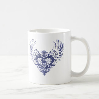 Pit Bull Winged Heart Coffee Mug