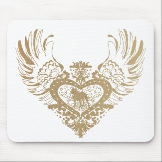 Pit Bull Winged Heart Mouse Pad