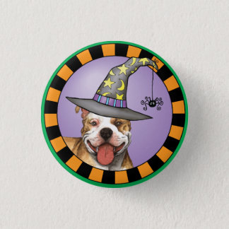 Pit Bull Witch Pinback Button