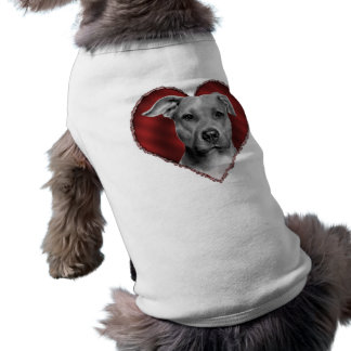Pit Bull with Heart Dog T Shirt