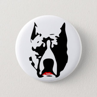 Pit Bull with Lipstick Pinback Button