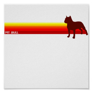 Pit Bull With Stripes Print