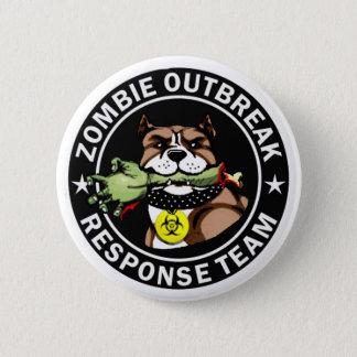 Pit Bull Zombie Outbreak Response Team Logo Button
