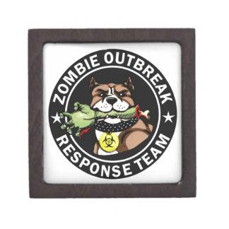 Pit Bull Zombie Outbreak Response Team Logo Jewelry Box