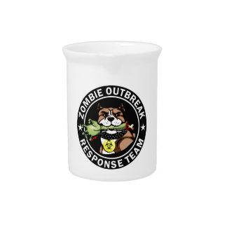 Pit Bull Zombie Outbreak Response Team Logo Pitcher
