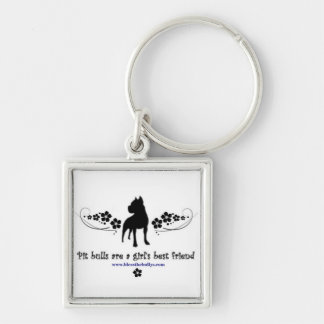 Pit Bulls are a Girl's Best Friend keychain