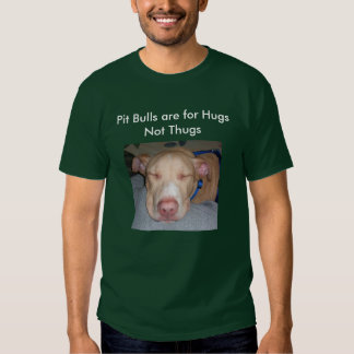 Pit Bulls are for Hugs Not Thugs Tee Shirt