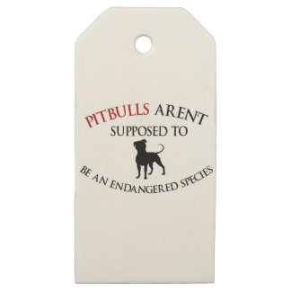 Pit bulls design cute wooden gift tags