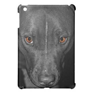 Pit Bull's Eyes (Black and white, color) iPad Mini Cover