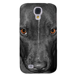 Pit Bull's Eyes (Black and white, color) Samsung Galaxy S4 Cover