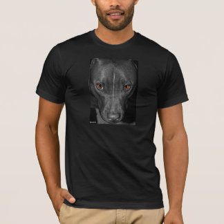 Pit Bull's Eyes (Black and white, color) T-Shirt