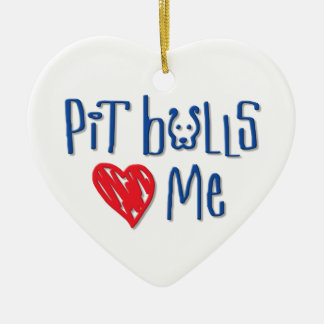 Pit Bulls Love Me Ornaments
