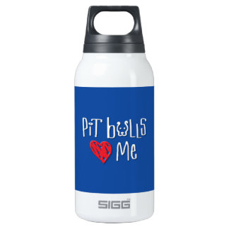 Pit Bulls Love Me Thermos Bottle