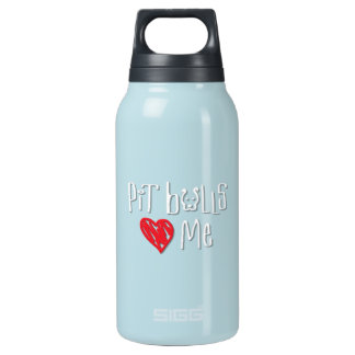 Pit Bulls Love Me Thermos Water Bottle