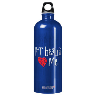 Pit Bulls Love Me Water Bottle