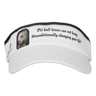 Pit bulls love unconditionally visor