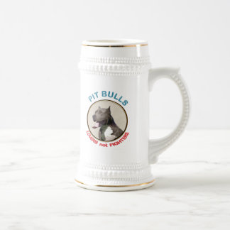 Pit Bulls Lovers not Fighters Beer Stein