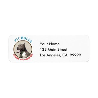 Pit Bulls Lovers not Fighters Return Address Labels