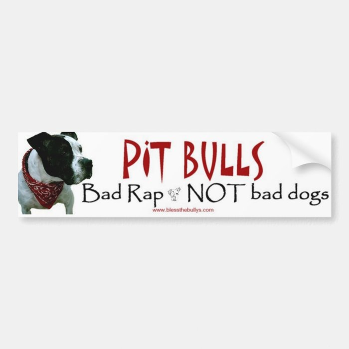 Pit Bulls...not bad dogs bumper sticker