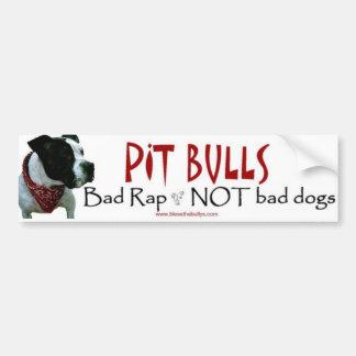 Pit Bulls...not bad dogs bumper sticker Car Bumper Sticker