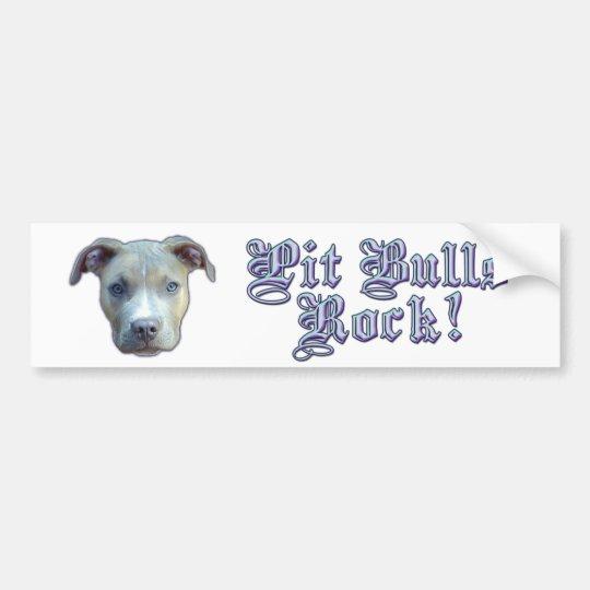 Pit Bulls Rock! Bumpersticker Bumper Sticker