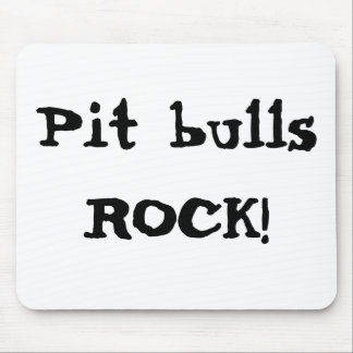 Pit bulls ROCK! Mouse Pad