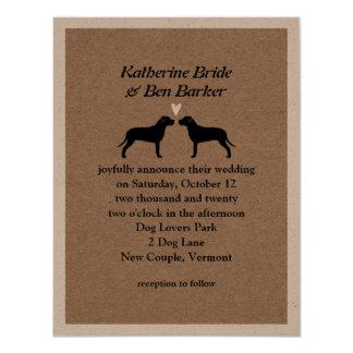 Pit Bulls Wedding Invitation